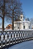 Russian church, winter time — Stock Photo