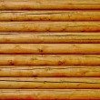 New log wall background — Stock Photo