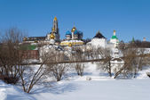 Trinity Sergius Lavra, winter time. Golden Ring of Russia — Stock Photo