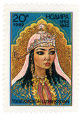 Portrait of Uzbek poetess Nadira (1792-1842) — Stock Photo