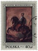 Horseman - canvas of polish artist Piotr Michalowski — Stock Photo