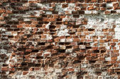 Old destroyed brick wall texture — Stock Photo