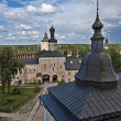 Inner courtyard of Kirillo-Belozersky monastery. Top view — Stock Photo #33799557