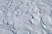 Windy snow surface — Stockfoto