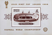 Wembley football stadium on post stamp — Stockfoto