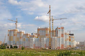 Construction of big residential building — Stock Photo