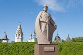 Monument to Yuri Dolgoruky, the founder of Yuriev-Polsky city — Stock Photo