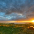 Sunset over the Atlantic Ocean from the coast of Northern Norway — Stock Photo