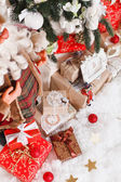 Christmas gift boxes — Stock Photo