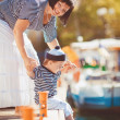 Woman with son on pier — Stock Photo #38954449