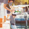 Woman with son on pier — Stock Photo #38954459