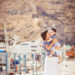 Woman with son on pier — Stock Photo #38954461
