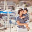 Woman with son on pier — Stock Photo #38954483
