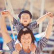 Woman with son on pier — Stock Photo #38954495