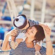 Woman with son on pier — Stock Photo #38954501