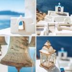 ������, ������: Amazing Santorini artwork in retro style