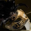 The Venetian masks with ornament over black background — Stock Photo #41080183