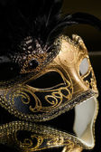 The Venetian masks with ornament over black background — Stock Photo