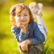 Portrait of a cute little girl on a sunny summer day — Stock Photo #47524925