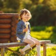 Portrait of a cute little girl on a sunny summer day — Stock Photo #47524949