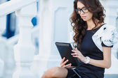 Young Businesswoman with Digital Tablet — Stock Photo