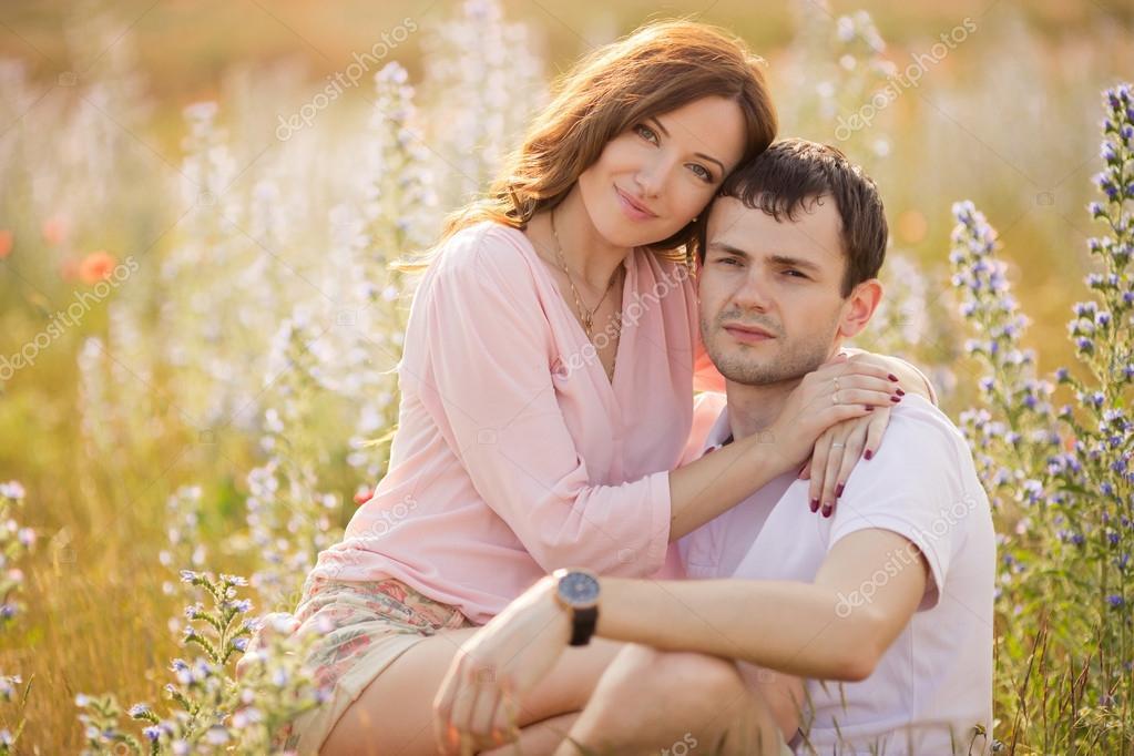 stock photo young couple love outdoor stunning sensual portrait stylish fashion