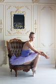 Graceful ballet dancer — Stock Photo