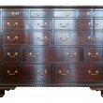 Brown wooden dresser. — Stock Photo