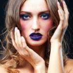 Beauty portrait of a sensual Caucasian woman — Stock Photo #31533545
