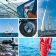 Yacht in the sea — Stock Photo