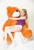 Orange teddy bear — Stock Photo