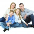 Stock Photo: Happy friendly family