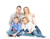 Happy friendly family — Stock Photo