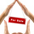 Hands imitating house sale — Stock Photo #1157795