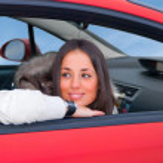 Beautiful woman in a car — Stock Photo #1156170