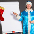 Royalty-Free Stock Photo: Business Snow Maiden