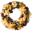 Christmas decorative wreath - Stock Photo