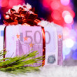 Royalty-Free Stock Photo: Gift box made of euro