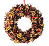 Dekorativer weihnachtskranz — Stockfoto
