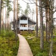 House in autumn forest — Stock Photo #15727439