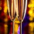 Champagne at christmas party — Stock Photo #16332813