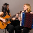 Stock Photo: Guitar and accordion performers