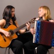 Guitar and accordion performers - Stock Photo