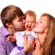 Stock Photo: Happy family with baby
