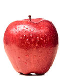 Wet red delicious apple — Stock Photo