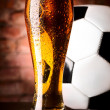 Stock Photo: Lager with ball