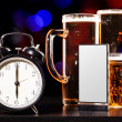 Time to drink beer — Stock Photo