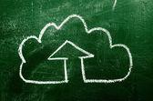 IT cloud on chalk board — Stock Photo