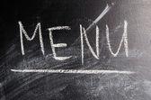Tebeşir tahtası üzerinde word menüsü — Stok fotoğraf