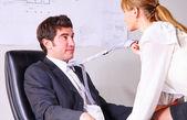 Seducing a boss — Stock Photo